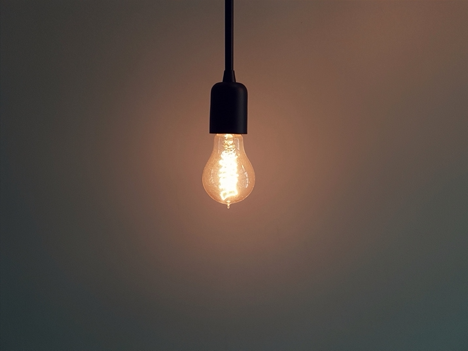 Image of a light bulb. Adequate lighting is important to home safety and accessibility.