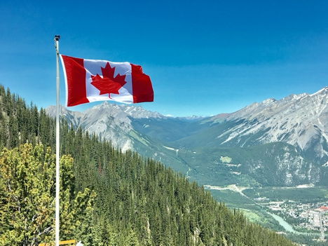 Image of a Canadian flag.